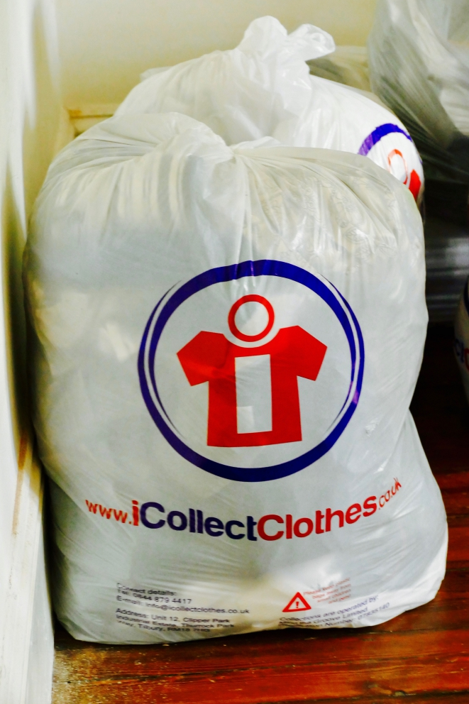 iCollect Clothes bags full of clothes.